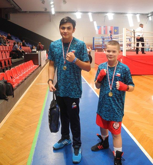 David Polák (vlevo) a Denis Porubský uspěli na turnaji vpolském Rybniku.