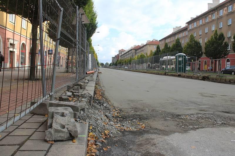 Opravy a omezení na Hlavní třídě v Havířově, říjen 2021.