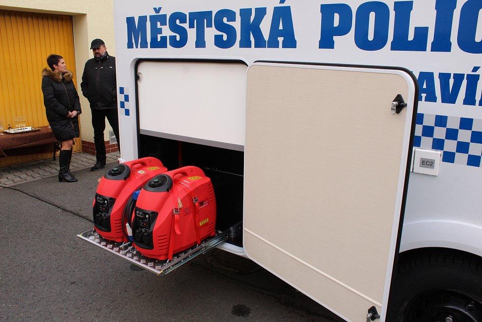 Mobilní služebna Městské policie v Havířově. Elektrocentrály.