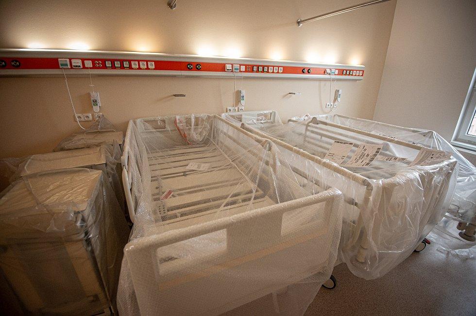 Nová nemocniční budova, 7. ledna 2021 v Karviné.