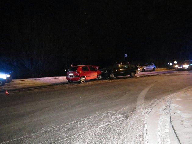 Foto zmísta nehody.