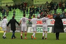 Fotbalisté Karviné se udrželi v lize a mohou se připravovat na nový ročník.