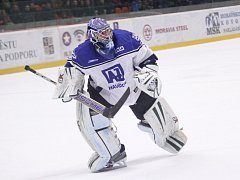 Gólman Marek Laco opět prokázal skvělou formu a pomohl ke třem bodům.