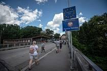 Otevření hranice mi Českou republikou a Polskem, 30. června 2020 v Českém Těšíně.