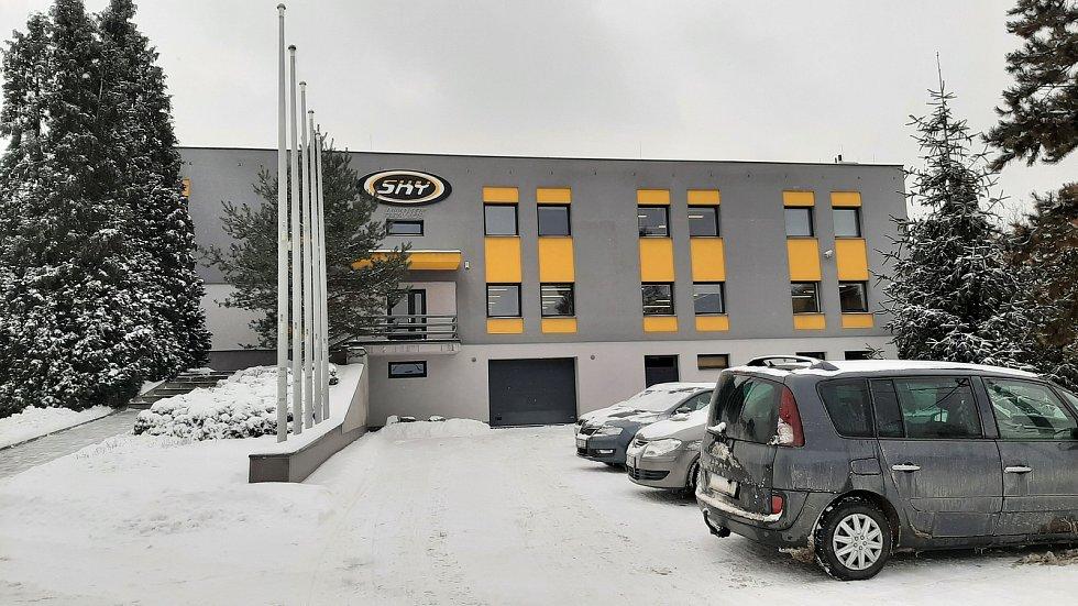 Sídlo firmy SKY paragliders v Albrechticích.