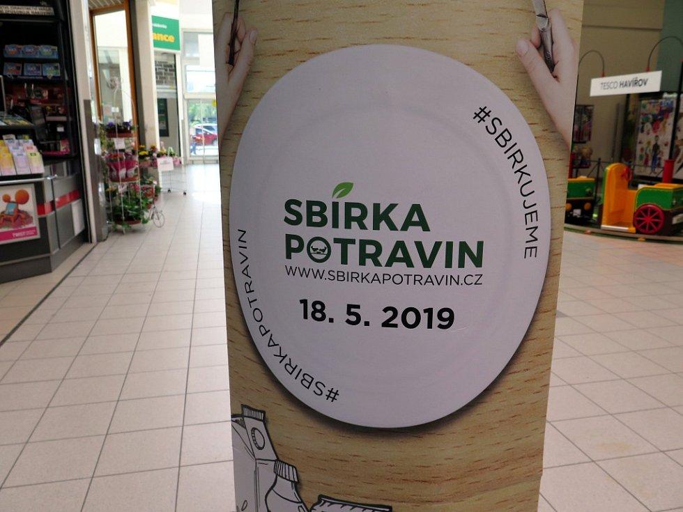 Potravinová sbírka v Havířově.