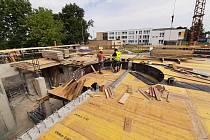 Modernizace karvinského krytého bazénu, červen 2021.