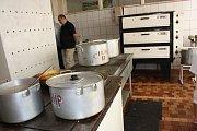 Kuchyně 15. mukačevské základní školy.