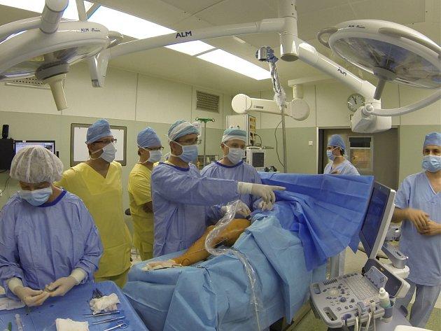 Léčba křečových žil pomocí radiofrekvenční ablace.
