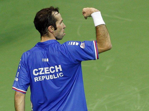 Radek Štěpánek vybojoval třetí bod českého tenisového výběru. Češi získali Davis Cup!
