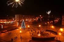 Novoroční ohňostroj 2017 v Havířově.