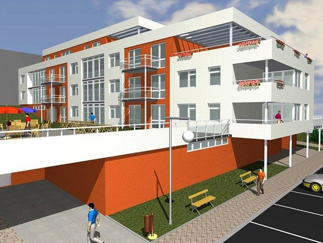 Takto bude vapadat nový bytový dům v centru Petřvaldu.