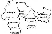 Mapa území Místní akční skupiny Bohumínsko.