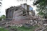Demolice Hořínovy vily.