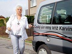 Jarmila Wanotová z Orlové je z taxislužby Českého červeného kříže nadšená.