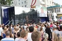 TV Prima vysílala v sobotu 25. 6. 2016 z náměstí Republiky v centru Havířova.