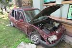 Dopravní nehoda, u které školák poskytl první pomoc.