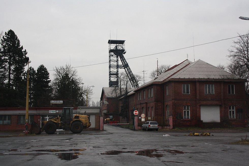 Důl Barbora (v roce 1990 ještě 1. máj) v roce 2015. Už netěží.