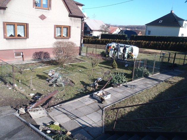 Nehoda v Těrlicku.