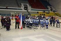 Turnaj hokejových přípravek v minihokeji v Havířově.