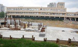 Stavba náměstí v Orlové