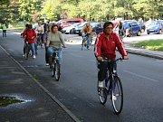 Cyklistická vyjížďka seniorů.