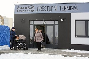 Přestupní terminál v Orlové