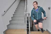Běh do schodů věže v Bohumíně.