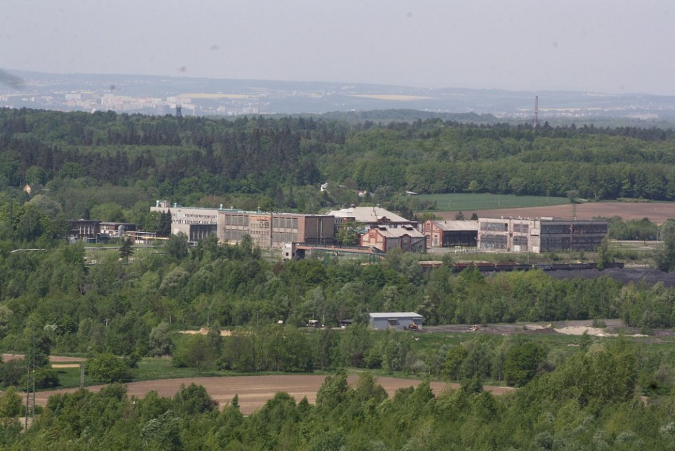 Výhled z těžní věže bývalého Dolu František v horní Suché.