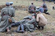 Rekonstrukce bitvy u polského Skočova z roku 1919.