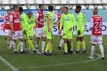 Pardubice - MFK Karviná (2:2), 30. kolo FORTUNA:LIGY, 2. května 2021. Hráno v Ďolíčku.