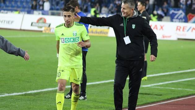 Ondřej Lingr byl po podzimním utkání v Ostravě chválen, stejně jako celý tým.