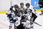 Havířovští hokejisté se radují z domácí výhry nad Sokolovem.