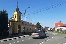 Bohumín-Záblatí.  Kaple sv. Jana Nepomuckého.