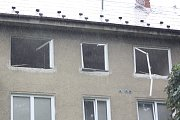 Zásah záchranářů u domu, kde vybuchl plyn.