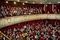 Snímek z festivalu Kino na hranici.