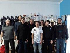 Šachové družstvo Orlové - vítězové první ligy.