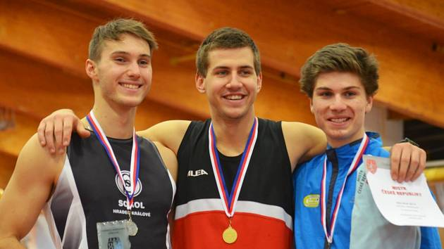 David Hájek (vpravo), bronzový z MČR.