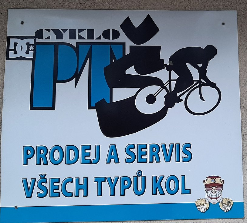 Petřvald. Prodejna PTŠ cyklo