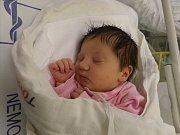 Markéta Tomšů z Karviné se narodila 23. října v Třinci. Měřila 51 cm a vážila 3350 g.