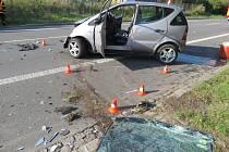 Nehoda na Orlovské ulici v Havířově.