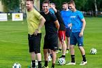 Fotbalový trénink bohumínských fotbalistů s brankářem Tomášem Vaclíkem. Na fotografii Tomáš Vaclík.