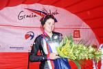 Loňská vítězka, letos druhá Evelyn Stevens z USA.