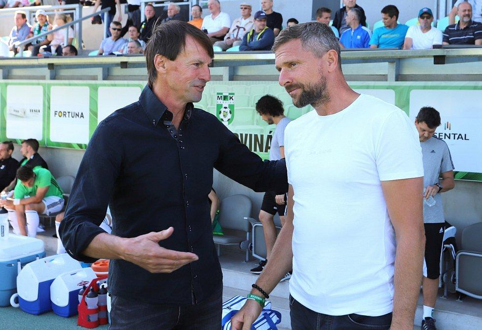 Trenéři obou celků František Straka a Martin Hašek.