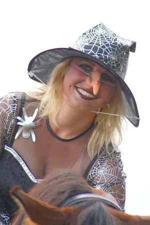 Vítězka soutěže onejlepší masku.