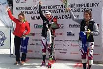 Kateřina Pauláthová vyhrála ve Špindlerově Mlýně na MČR slalom žen.