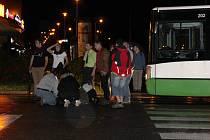 Nehoda, při které v centru Havířova srazil autobus chodkyni.