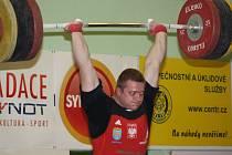 Vzpěračská soutěž v nadhozu TOP 12 v Havířově - Daniel Dolega.