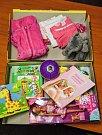 Podobně může vypadat dárková vánoční krabice pro holčičku ve věku 3 až 4 roky.