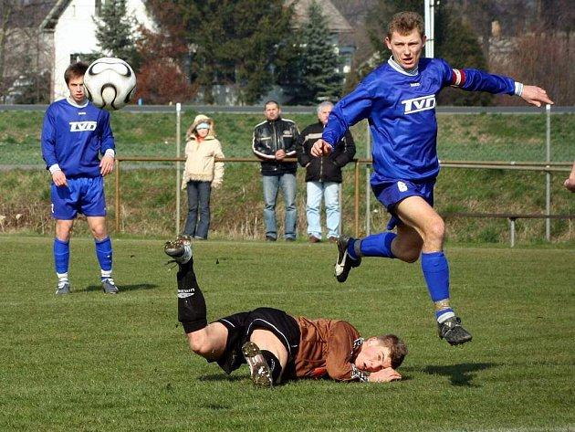 Petrovičtí fotbalisté doma proti Bystřici uhráli jen bod. Ilustrační foto.